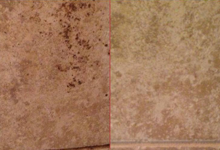Grout And Tile Discoloration