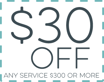 $30 Off Any Service of $300 or More
